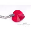 Saját készítésű ékszer Swarovski Swarovski szív kristálymedál 18mm-es kristállyal