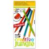Sakota Creative Jungle 12 darabos háromszögletű színes ceruza készlet kifestővel