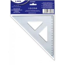 Sakota Háromszög vonalzó, műanyag, 45°, 16 cm, SAKOTA vonalzó