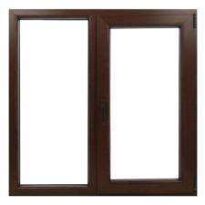 Salamander Műanyag ablak barna 176x114cm 7 kamrás Fix+Bukó/Nyíló építőanyag