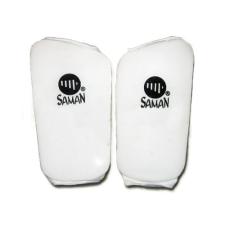 Saman Lábszárvédő, Saman, pamut, szivacs betéttel, fehér, XXL méret futball felszerelés