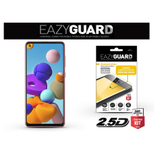 Samsung A217F Galaxy A21s gyémántüveg képernyővédő fólia - Diamond Glass 2.5D Fullcover - fekete mobiltelefon kellék