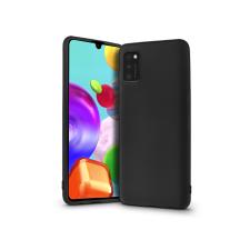 Samsung A415F Galaxy A41 szilikon hátlap - Soft Premium - fekete tok és táska