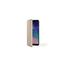 Samsung A600 Galaxy A6 gyári Wallet Cover flip tok, arany, EF-WA600CF, (SM-A600) tok és táska