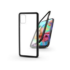 Samsung A715F Galaxy A71 mágneses, 2 részes hátlap előlapi üveg nélkül - Magneto  fekete tok és táska
