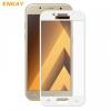 Samsung Galaxy A3 (2017) SM-A320F, Kijelzővédő fólia, ütésálló fólia (az íves részre is!), Tempered Glass (edzett üveg), Enkay, fehér