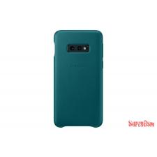 Samsung Galaxy S10 E bőr hátlap, Zöld tok és táska