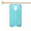 Samsung Galaxy S5 SM-G900, Műanyag hátlap védőtok, Baseus Seashell Line, átlátszó cyan