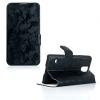 Samsung Galaxy S5 SM-G900, Oldalra nyíló tok, stand, festékmintás, fekete