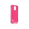 Samsung Galaxy S5 SM-G900, TPU szilikon tok, Ballistic jewel, ütésálló, rózsaszín