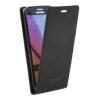 Samsung Galaxy S6 SM-G920, Lenyitható bőrtok, Canvas Flexi, felfelé nyíló - kinyitható, fekete