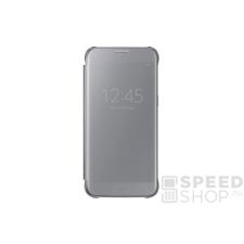 Samsung Galaxy S7 gyári Clear View Cover flip tok, ezüst, EF-ZG930CS, (SM-G930) tok és táska