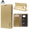 Samsung Galaxy S7 SM-G930, Oldalra nyíló tok, stand, Mercury Blue Moon, arany