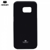 Samsung Galaxy S7 SM-G930, TPU szilikon tok, Mercury Goospery, csillámporos, fekete