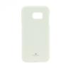 Samsung Galaxy S8 SM-G950, TPU szilikon tok, Mercury Goospery, csillámporos, fehér