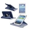 Samsung Galaxy Tab 3 Lite 7.0 SM-T110, mappa tok, elforgatható (360°) sötétkék