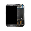 Samsung i9305 Galaxy S3 LTE szürke gyári LCD kijelző érintővel és kerettel