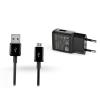 Samsung Samsung gyári USB hálózati töltő adapter + micro USB adatkábel - 5V/2A - EP-TA200EBE + ECB-DU5ABE black (ECO csomaglás)