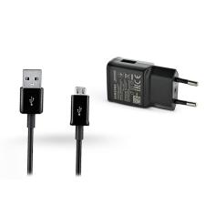 Samsung Samsung gyári USB hálózati töltő adapter + micro USB adatkábel - 5V/2A - EP-TA200EBE + ECB-DU5ABE black (ECO csomaglás) mobiltelefon kellék