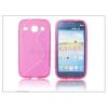 Samsung Samsung i8260 Galaxy Core szilikon hátlap - S-Line - pink