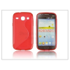 Samsung Samsung i8260 Galaxy Core szilikon hátlap - S-Line - piros