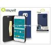 Samsung Samsung SM-G920 Galaxy S6 flipes tok kártyatartóval - Muvit Slim and Stand - blue