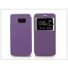 Samsung SM-G928 Galaxy S6 Edge+ S-View Flexi oldalra nyíló flipes tok - lila