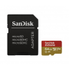 Sandisk MICRO SD CARD 64GB SanDisk EXTREME, 90MB/s CL10 UHS-I, V3 +Adapter (173421)