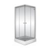 Sanimix Szögletes zuhanykabin átlátszó üveggel zuhanytálca nélkül