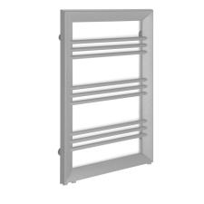 Sapho LEONTES fürdőszobai radiátor, 595x944mm, 423W, struktúrált ezüst (NT609SS) fűtőtest, radiátor
