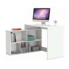 Sarok számítógépasztal, fehér, KORNER