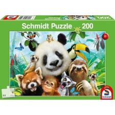 Schmidt : Őserdő barátok 200 darabos puzzle puzzle, kirakós