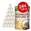 Schmusy Nature Mix gazdaságosan 24 x 100 g - Csirke, marha, pulyka, vad