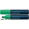 "SCHNEIDER Alkoholos marker, 2-7 mm, vágott, SCHNEIDER ""Maxx 250"", zöld"