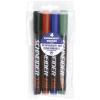 """SCHNEIDER Alkoholos marker készlet, 1-3 mm, kúpos, SCHNEIDER """"Maxx 130"""", 4 különböző szín"""