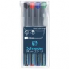 """SCHNEIDER Alkoholos marker készlet, OHP, 1 mm, SCHNEIDER \""""Maxx 224 M\"""", 4 különböző szín [4 db]"""