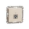 Schneider Electric SDD112461S Informatikai csatlakozóaljzat 1xRJ45, Cat6 STP, bézs burkolattal, keret nélkül, csavaros bekötés (Sedna Design / Elements)