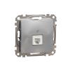 Schneider Electric SDD113491 telefoncsatlakozó 1xRJ11, alumínium burkolattal, keret nélkül, csavaros bekötés (Sedna Design / Elements)