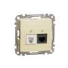 Schneider Electric SDD180468 kombinált csatlakozóaljzat 1xRJ45 + 1xRJ11 (informatikai UTP cat6 + telefon) nyír burkolattal, keret nélkül, csavaros bekötés (Sedna Design / Elements)