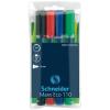 """SCHNEIDER Tábla- és flipchart marker készlet, 1-3 mm, kúpos, SCHNEIDER """"Maxx Eco"""", 4 különböző szín"""