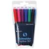 """SCHNEIDER """"Topliner 967"""" 0,4 mm 6 különböző színű tűfilc készlet"""