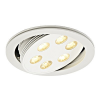 Schrack Technik TRITON LED mélysugárzó 6x3W, matt fehér, LED melegfehér- LI113642