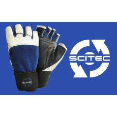 Scitec Nutrition Kesztyű Power Blue with wrist wrape férfi sötétkék XL Scitec Nutrition