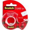 """Scotch Ragasztószalag, adagolón, kézi, 19 mm x 7,5 m, 3M SCOTCH """"Crystal"""""""