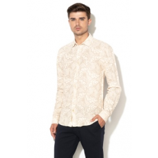 Scotch & Soda , Regular fit lentartalmú ing strandra, Világosbézs/Drapp, L (18010320488-0218-L)