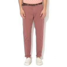 Scotch & Soda , Stuart Slim Fit Chino nadrág levehető övvel, Konyakbarna, W30-L32 (18010180403-1941-W30-L32)