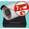 Sec-CAM 4MP-AHD-SET-07CVF, varifokális 4MP felbontású 7 kamerás komplett AHD megfigyelő szett
