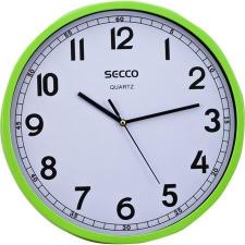 Secco Falióra, 29,5 cm, SECCO, zöld keret falióra