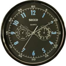 Secco Falióra, 30,5 cm, páratartalom mérővel, hőmérővel SECCO, króm színű falióra