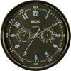 Secco Falióra, 30 cm, barométerrel, hőmérővel SECCO, króm színű